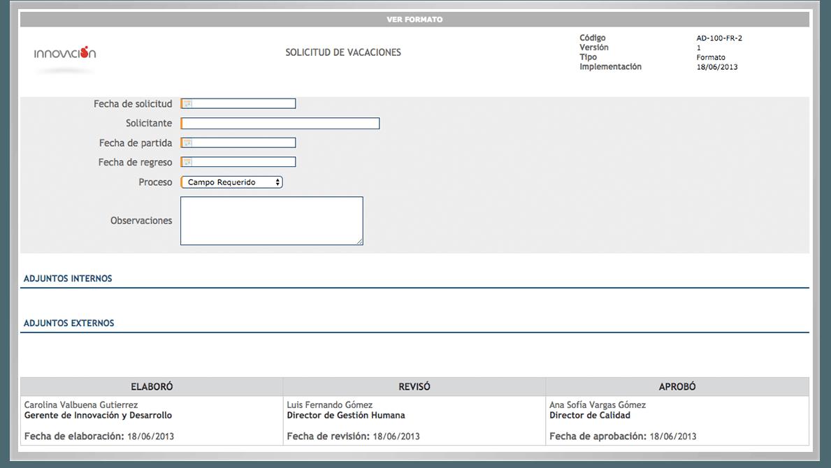 formularios en línea documentos KAWAK