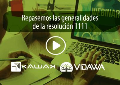 Repasemos las generalidades de la resolución 1111