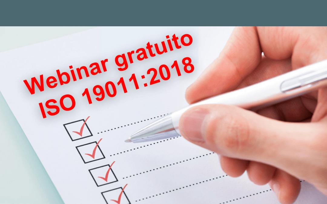 Webinar gratuito: Conoce los cambios para auditorías con ISO 19011:2018